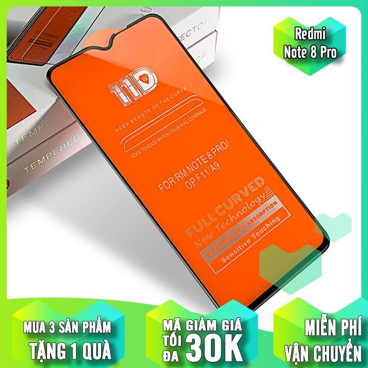 Giá [MUA 1 TẶNG 1] Kính cường lực 11D cho Xiaomi Redmi Note 8 Pro Full viền Đen MIETUBL