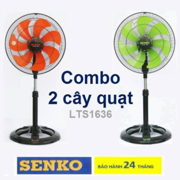 COMBO 2 QUẠT LỞ THÂN SẮT F23 SENKO LTS1636