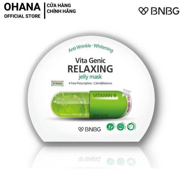 Mặt Nạ Giấy BNBG Relaxing Giúp Phục Hồi Và Thư Giãn Da Mụn, Da Mệt Mỏi BNBG Vita Genic Relaxing Jelly Mask 30ml (xanh lá) nhập khẩu
