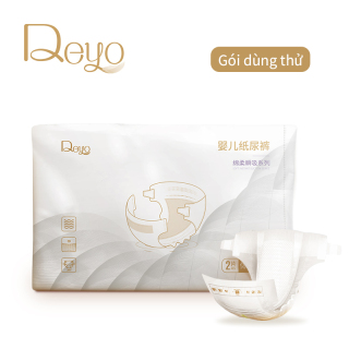 Tã giấy dùng một lần cho bé Deyo bằng màng PE thoáng khí, vải không dệt thân thiện với da (Gói dùng thử có 2 miếng) - INTL thumbnail