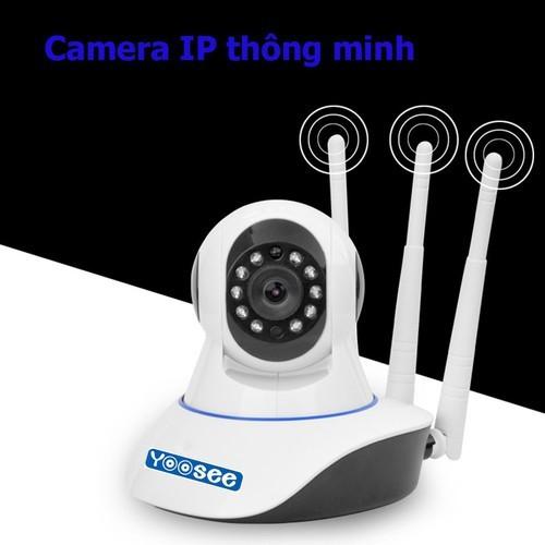 Camera IP WIFI YOOSEE 3 RÂU KHÔNG DÂY,, xoay 360 độ, độ phân giải HD 1280 x 720p,Camera không dây wifi hỗ trợ Ghi âm,trong nhà,ngoài trời