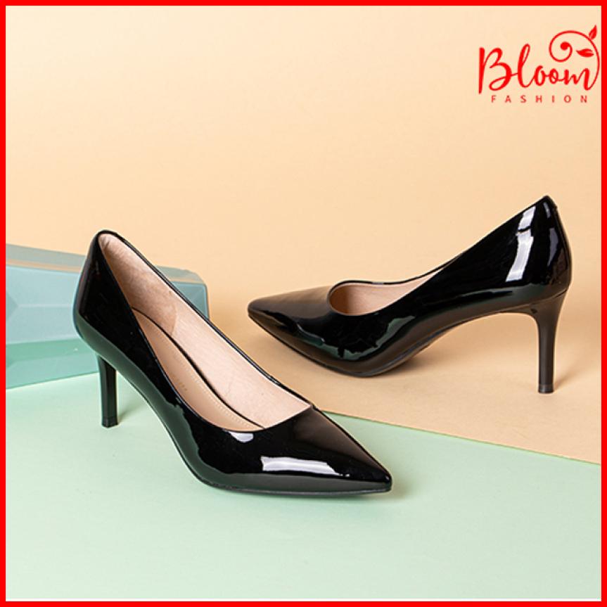 Giày cao gót nữ 5 phân bít mũi nhọn YUKIBLOOM Giày cao gót nữ 5 phân da bóng Cao Cấp VNXK H002B giá rẻ