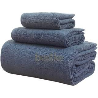 Bộ Khăn Tắm, khăn Gội, khăn Mặt bestke 100% Cotton Xuất Khẩu Hàn Quốc màu xanh đậm, KT 120 60+70 34+34 34cm, TL 500g, Towles cotton thumbnail