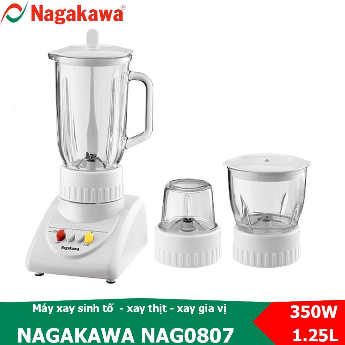 Máy Xay Sinh Tố, Xay Thực Phẩm đa Năng 3 Trong 1, Công Suất 350W Nagakawa NAG0807 Cùng Giá Khuyến Mãi Hot