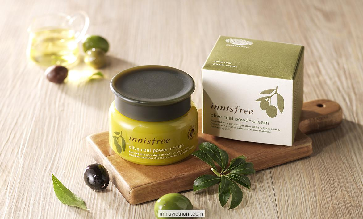 Hủ dùng thử kem dưỡng da dầu olive Hàn Quốc Olive real power cream