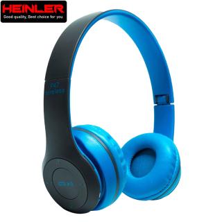 Tai nghe Bluetooth không dây Heinler HS-P47 gấp gọn có mic thoại, nghe nhạc 4-6 tiếng, hỗ trợ thẻ nhớ 32G (Xanh dương) thumbnail