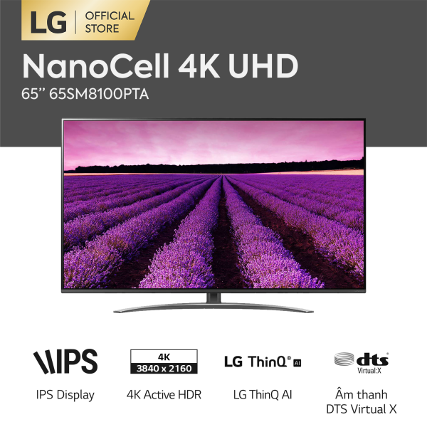 Bảng giá [FREESHIP 500K TOÀN QUỐC] Tivi LG NanoCell 65 inch 65SM8100PTA - Hãng phân phối chính thức