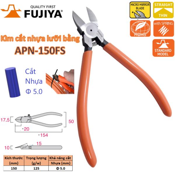 Kìm cắt nhựa lưỡi bằng 6inch/ 150mm Fujiya APN-150FS thương hiệu Nhật Bản