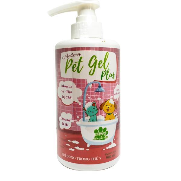 Sữa Tắm Pet Gel Plus - 500ml - Sữa Tắm cho chó mèo giúp giảm ve rận, khử mùi và giúp da lông khỏe mạnh
