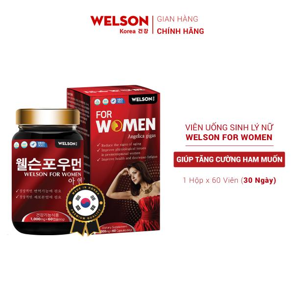 Viên Uống Cải Thiện Sinh Lý Nữ Welson for Women hộp 60 viên