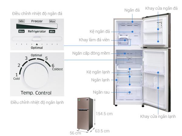 Bảng giá Tủ lạnh Samsung RT22M4040DX/SV Inverter 236 lít Điện máy Pico