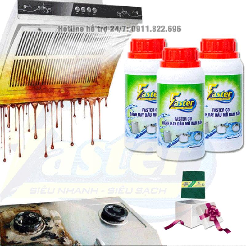 Nước Tẩy Dầu Mỡ Nhà Bếp Bám Lâu Ngày Siêu Mạnh Faster CO 250 ml