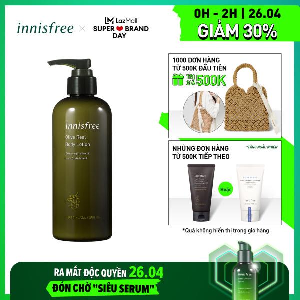 Sữa dưỡng ẩm toàn thân hương ô liu innisfree Olive Real Body Lotion 300ml
