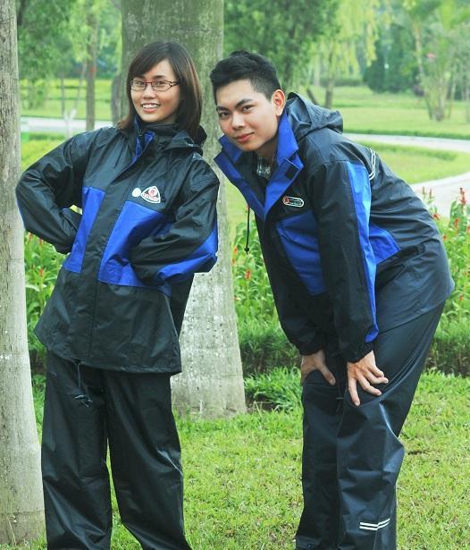 Bộ quần áo mưa cao cấp Vĩnh Thịnh Chống thấm 2 lớp tốt