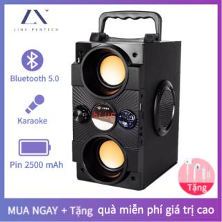 Loa karaoke Bluetooth [không kèm micro], di động loa cao cấp âm thanh vòm 8D, loa âm lượng cực đại 100W, pin 2500 mA, phát liên tục trong 8 giờ [Bảo hành 12 tháng] thumbnail