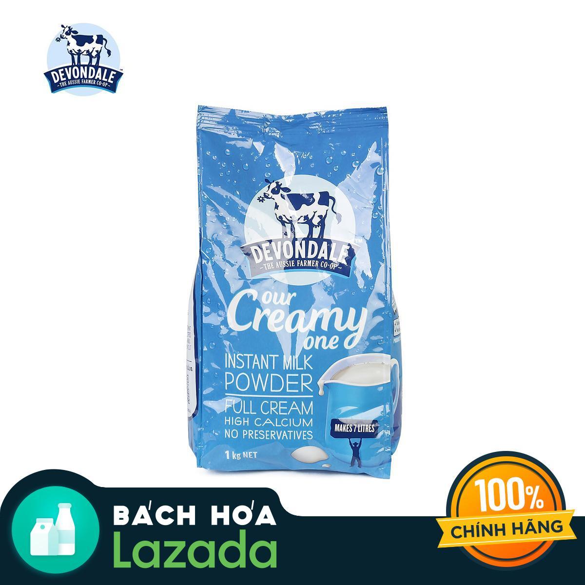 Sữa bột nguyên kem Devondale túi 1kg