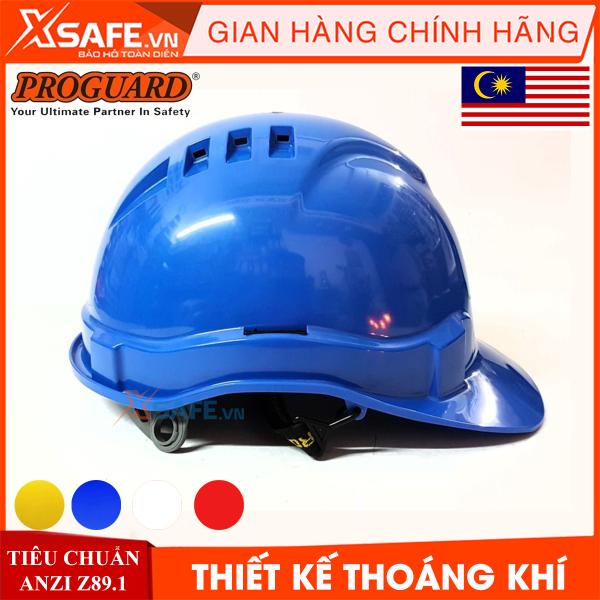 Nón bảo hộ Proguard HG2-WHG3RS nhựa ABS siêu cứng-có lỗ thoáng khí, 4 màu, nút vặn kèm hệ khung treo - mũ bảo hộ lao động chính hãng [XSAFE] [XTOOLS]