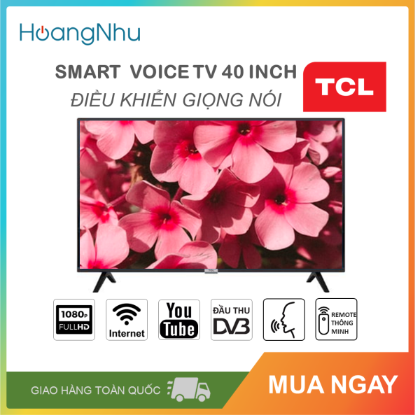 Bảng giá Smart Voice Tivi TCL 40 inch Kết nối Internet Wifi, Điều khiển giọng nói L40S6500 (Full HD, Android 8.0, Bluetooth, truyền hình KTS, tặng remote thông minh, màu đen)
