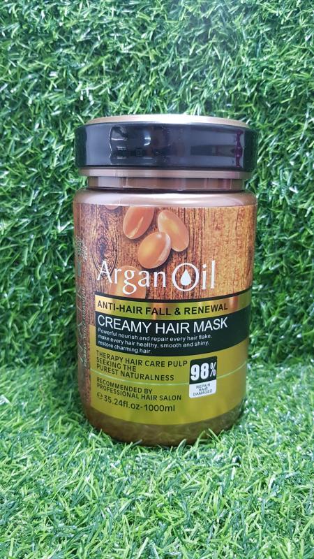 Kem ủ phục hồi tóc hư tổn siêu mượt Argan Oil 1000ml