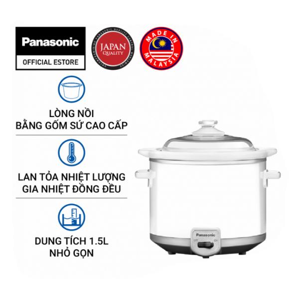 [Tặng bàn ủi 370k] Nồi nấu chậm Panasonic NF-N15SRA (1.5 Lít) - Hàng chính hãng - Bảo hành 12 tháng