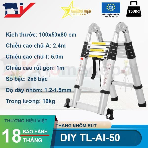 Thang nhôm rút đôi 5m DIY TL-AI-50