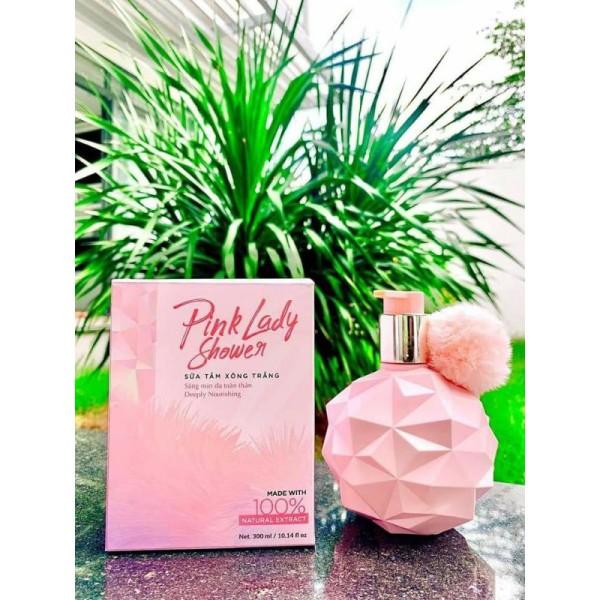 (TRẮNG BẬT TÔNG) Sữa Tắm Xông Trắng PINK LADY - Trắng Sáng - Mịn Màng - Thơm Tinh Tế-Sữa tắm xông trắng Pink Lady là sữa tắm xông trắng thế hệ mới giúp làm sáng da sử dụng hạt massa tẩy tế bào chết trên da