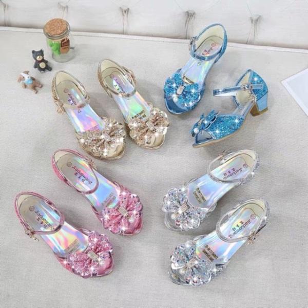 Giá bán Giày công chúa elsa cao gót cho bé gái ( tặng kèm đế ) MSP 05 )