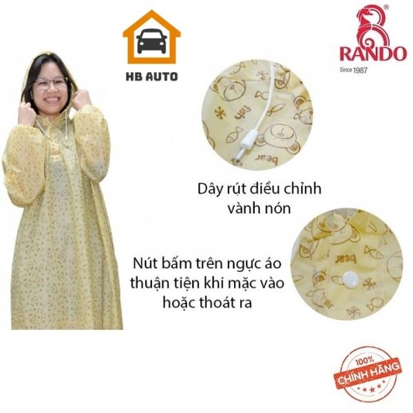 Giá bán [ THÔNG DỤNG] Áo mưa Rando Pochon EVA Free size giúp che chở cho người thân yêu của bạn