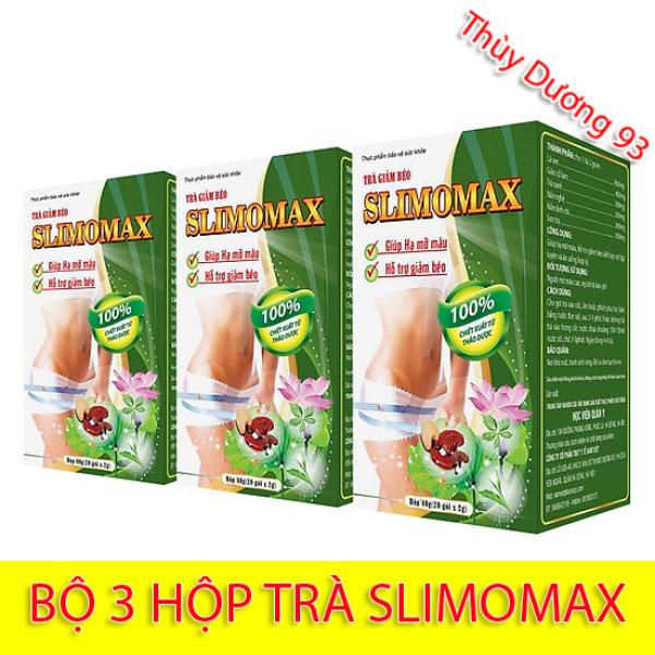 Liệu trình 3 hộp Trà giảm béo Slimomax Học Viện Quân Y (20 gói x 3) giúp giảm mỡ máu, giảm cân hiệu quả và an toàn