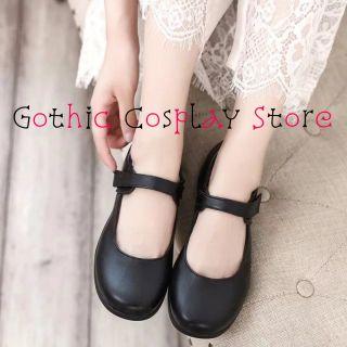 🍁 Giày búp bê lolita Mori Mary Janes oxford phong cách ullzang tiểu thư, gothic cosplay, giày cosplay, giày oxford, giày ulzzang, giày lolita tiểu thư ( Rubyn Gothic Cosplay )