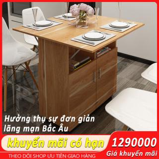 Bàn ăn đa năng Bàn ăn gập được Tủ phụ đựng đồ biến hóa nhanh chóng thành bàn ăn 4 người cho căn hộ cỡ nhỏ đồ nội thất đa năng thumbnail