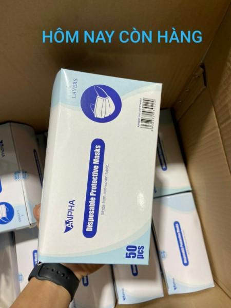 khẩu trang y tế 4 lớp hộp 50 cái Kháng Khuẩn Ngăn Ngừa Virus Khói Bụi Đạt Tiêu Chuẩn ISO Và Kiểm Định Bộ Y Tế màu xanh,  than hoạt tính