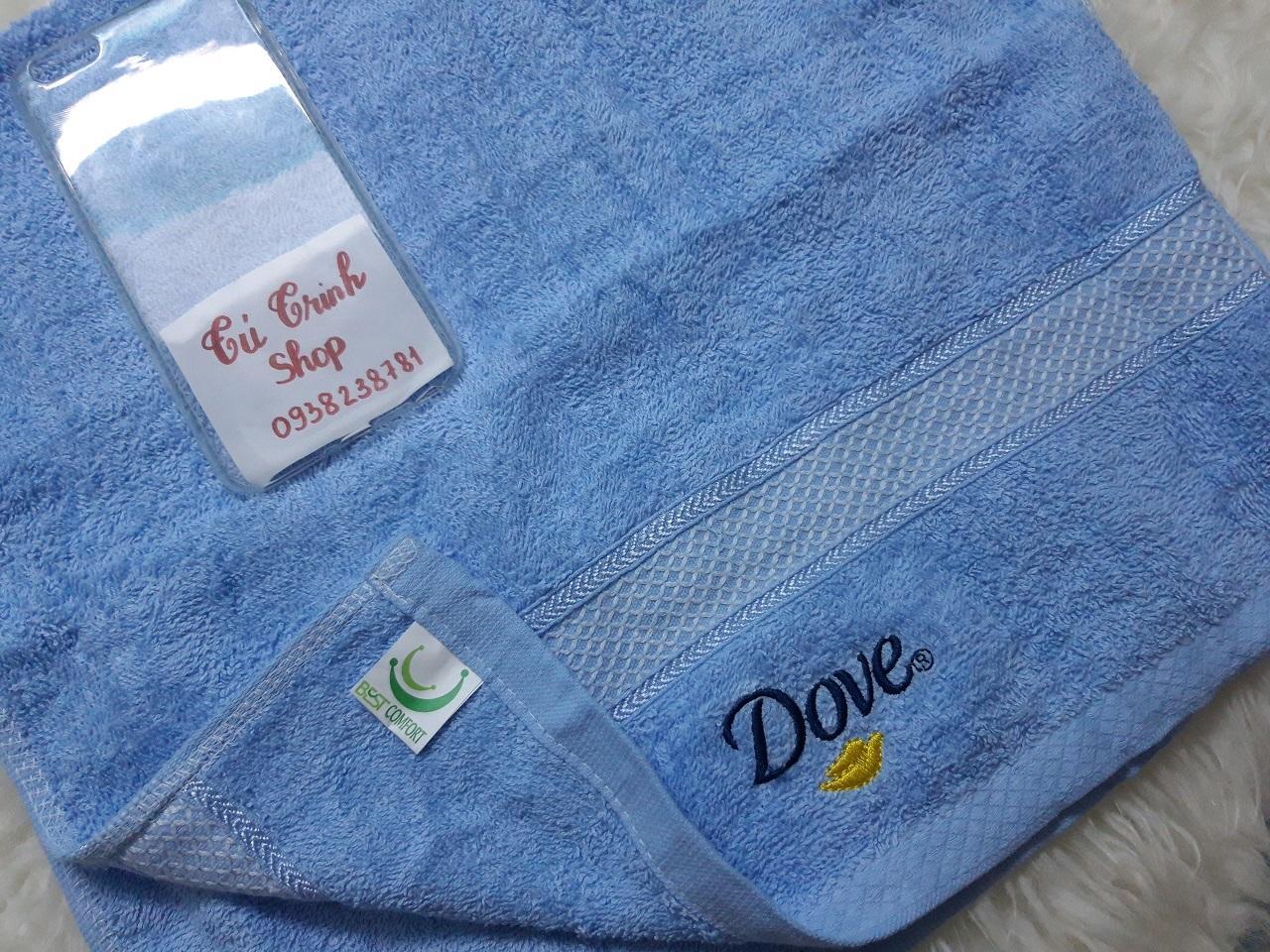 (HÀNG KHUYẾN MÃI ) Combo 2 Khăn Tắm Dove  ( Kích thước 40*80cm )