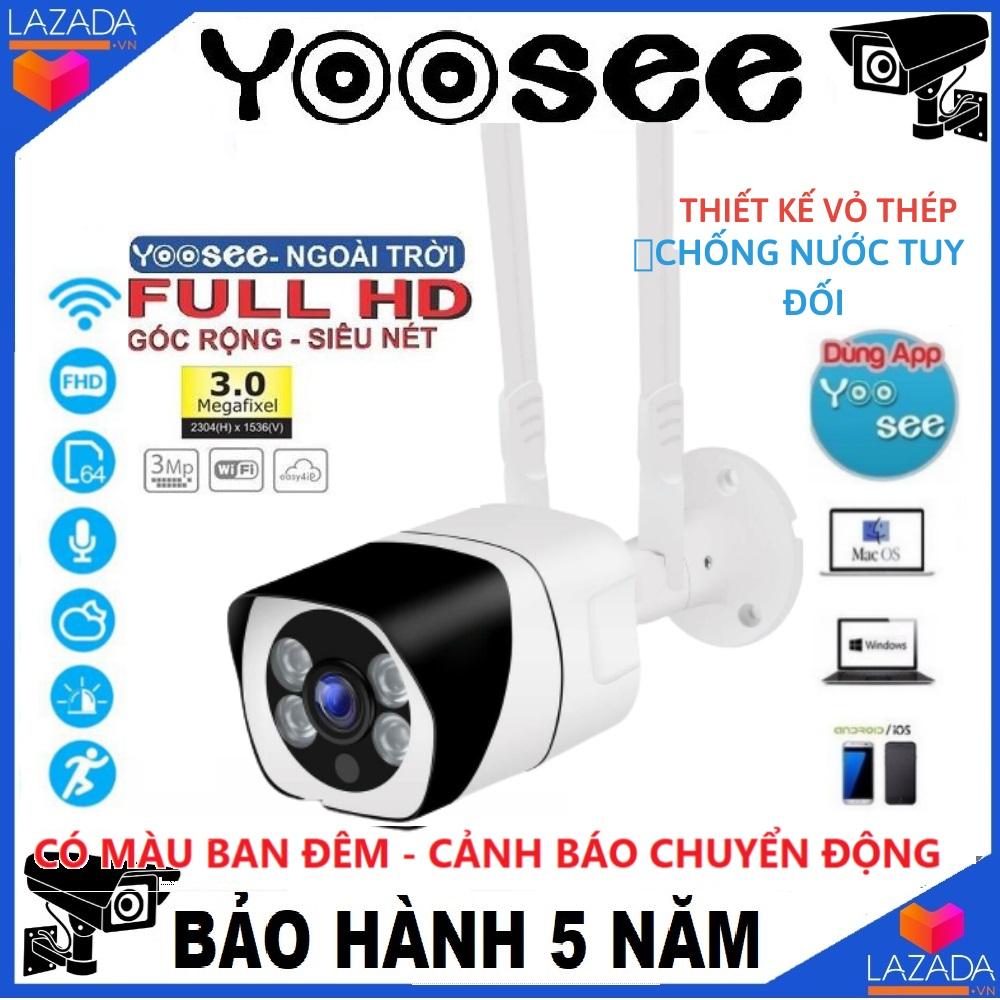 (KÈM THẺ CHUYÊN DỤNG LÊN TỚI 32GB) Camera Wifi trong nhà - ngoài trời YOOSEE S10, 3.0 Mpx - UltraHD,camera WIFI KHÔNG DÂY Full HD XEM ĐÊM CÓ MÀU, chống nước tuyệt đối,góc rộng(CÓ 2 MÃ SẢN PHẨM : CHƯA KÈM THẺ, KÈM THẺ 32 GB)