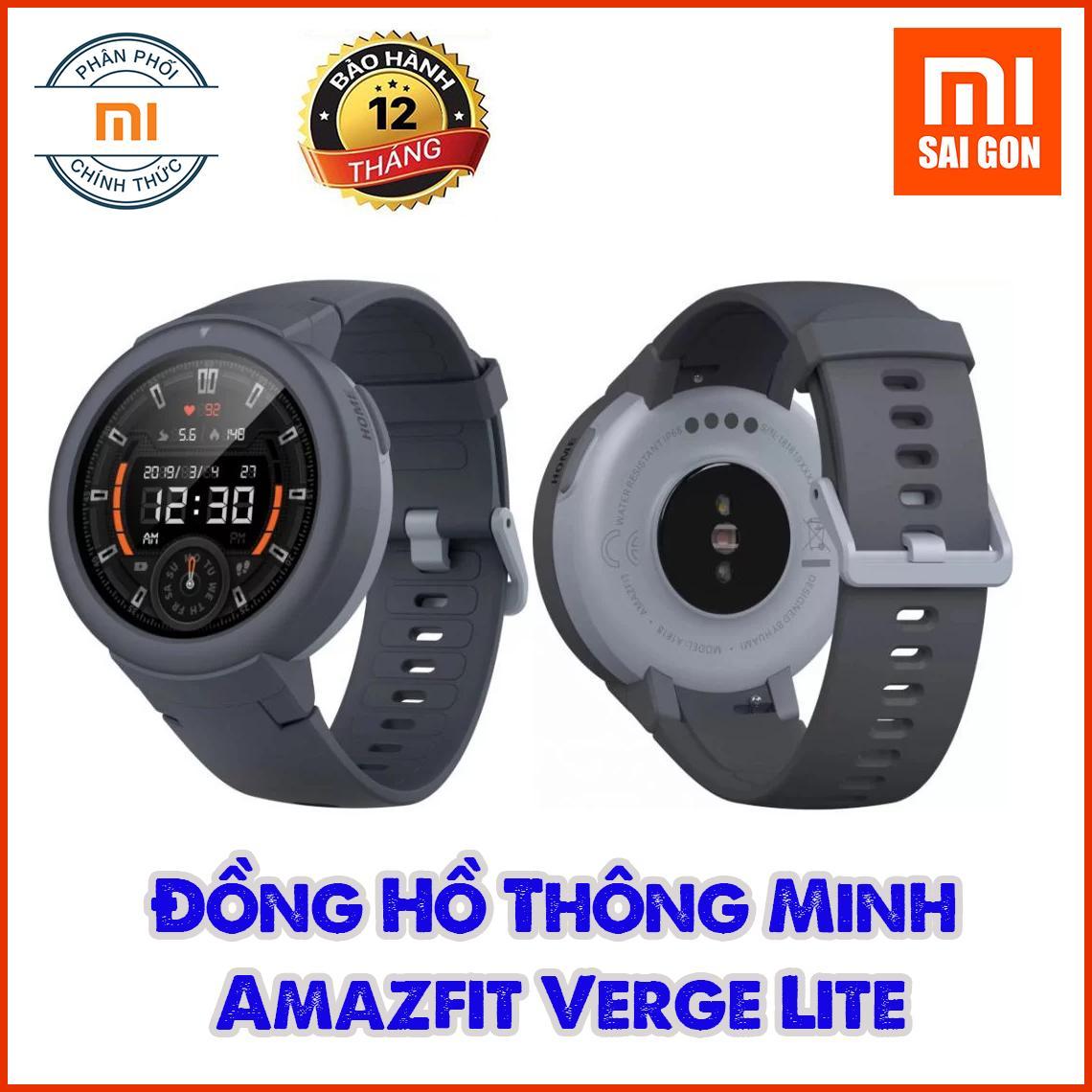 Đồng Hồ Thông Minh Xiaomi Huami Amazfit Verge Lite GPS A1818 - Grey - Hàng Chính Hãng