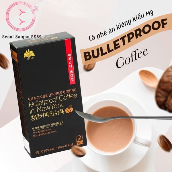 Cà Phê hỗ trợ giảm cân Hàn Quốc - Bulletproof Coffee In New York cao cấp