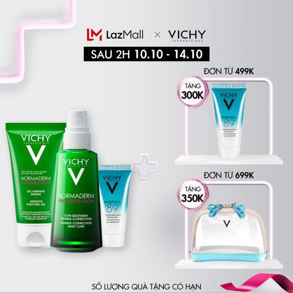 Bộ sản phẩm giúp giảm mụn & phục hồi da Vichy Normaderm Phytosolution