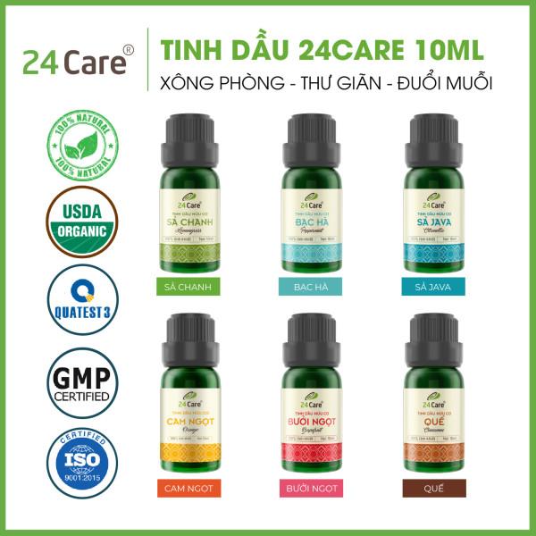 Tinh dầu thiên nhiên nguyên chất 24care - Đa dạng mùi, tốt cho sức khỏe - Dung tích 10ml