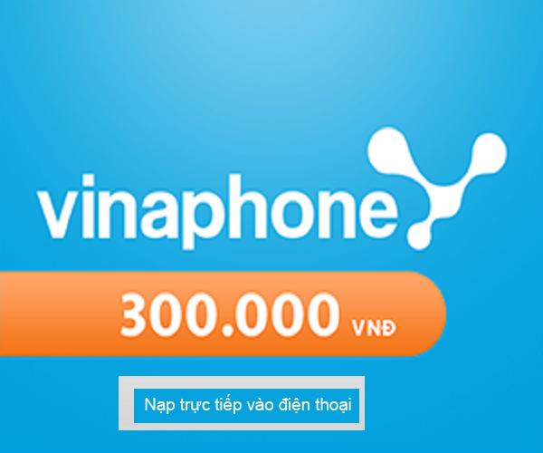 Nạp Tiền Vinaphone 300.000 - Nạp Tiền Trực Tiếp Thuê Bao TRẢ SAU Giá Siêu Rẻ