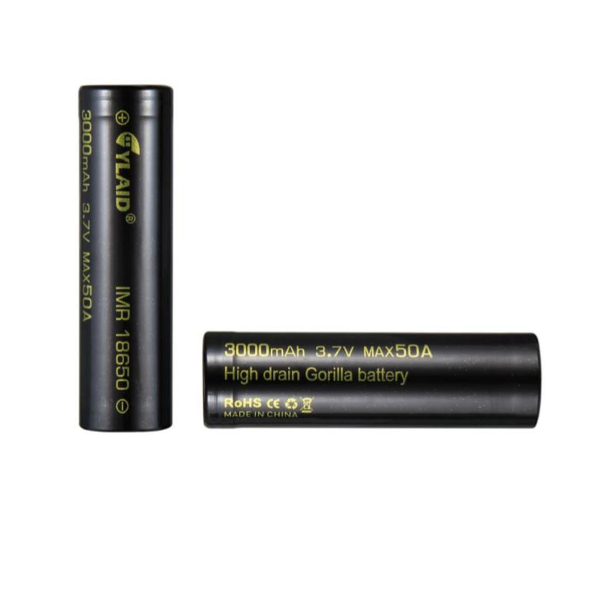 Pin sạc 18650 Cylaid Đen 3000mAh 50A for Mech and Boxes mods