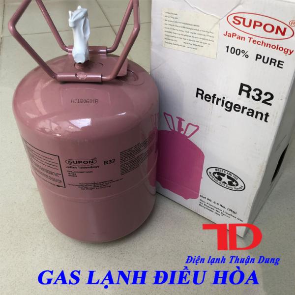 Gas lạnh điều hòa R32 SUPON 3KG, Môi chất lạnh R32
