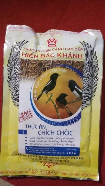 Cám Chích Chòe Hiển Bảo Khánh Dưỡng - Thay Lông (Số 1) 200gr - Thức Ăn Chim Cao Cấp