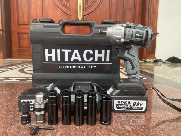 máy siết bulong hitachi cao cấp - tặng kèm 4 khẩu dài