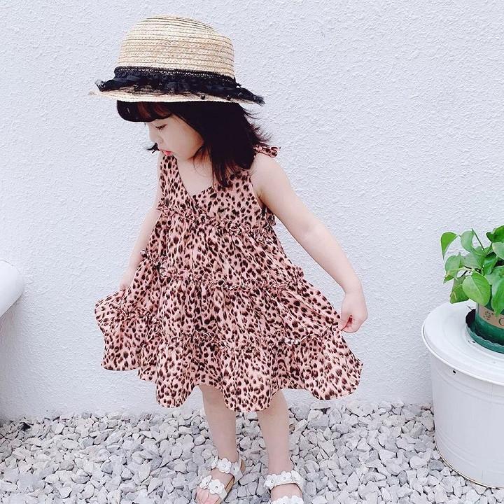 Giá bán Combo 2 Váy da báo hai dây bé gái_ 2