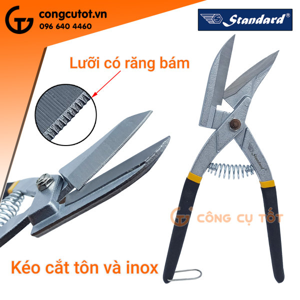 Kéo cắt tôn, cắt inox Standard 250mm