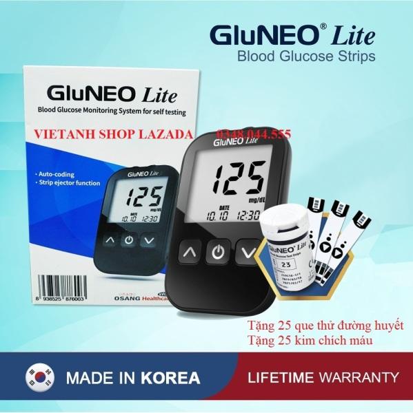 Máy Đo Đường Huyết GluNEO Lite - Tặng kèm 25 que thử đường huyết, 25 kim chích máu Chính hãng Hàn Quốc bán chạy