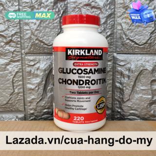 Viên uống Glucosamine 1500mg with Chondroitin 1200mg 220 (viên nắp vặn chai xám) Glucosamin Chondroitin giúp hỗ trợ giảm chứng đau xương ở người lớn tuổi thumbnail