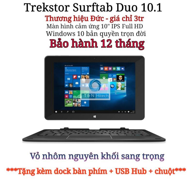 Laptop 2 trong 1 Windows 10 vỏ nhôm màn hình cảm ứng 10 inch TREKSTOR Surftab Duo 2GB RAM 32GB - Tặng kèm dock bàn phím