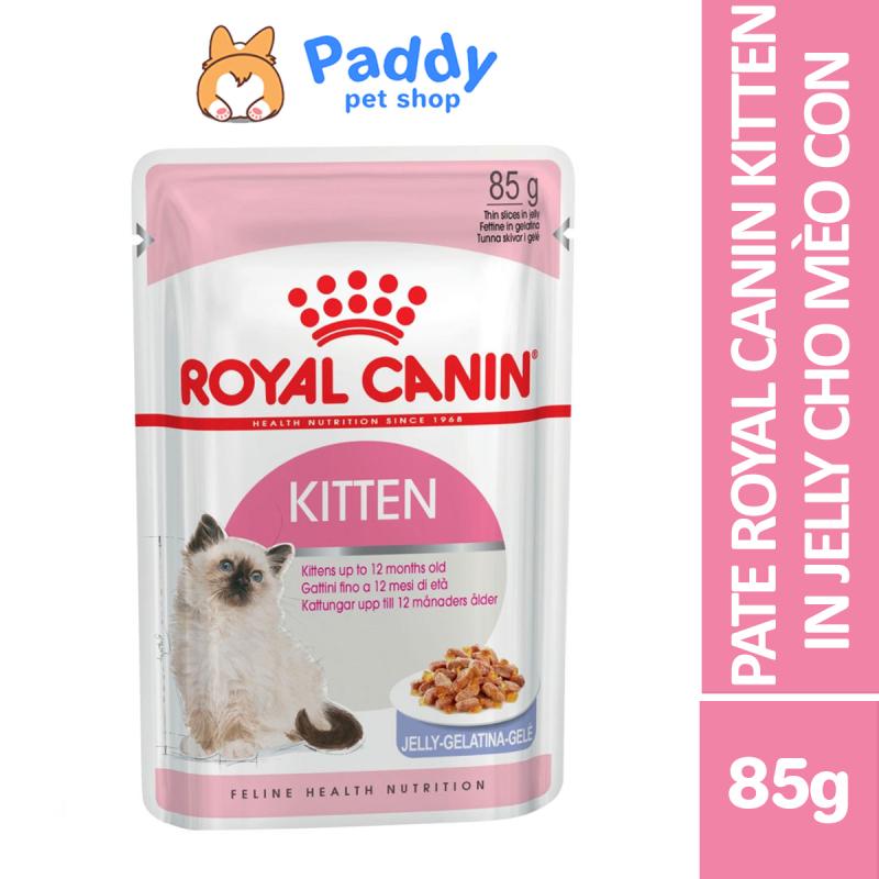 Pate Royal Canin Kitten Jelly Cho Mèo Con Dạng Thạch 85g