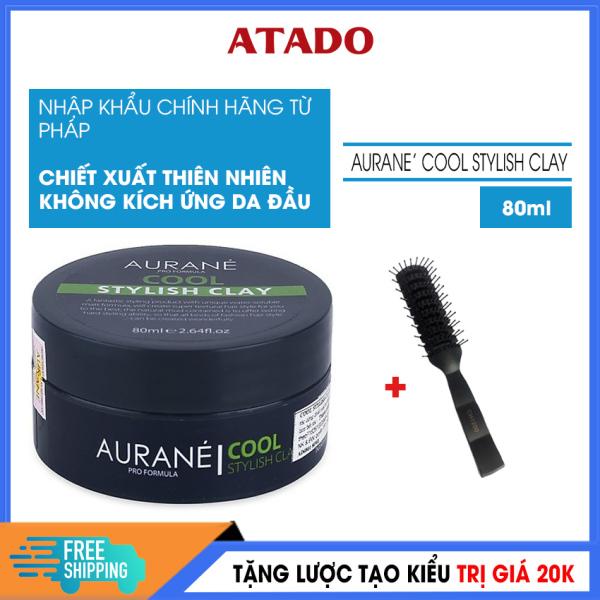 [Có Video Review] Sáp vuốt tóc nam Cao Cấp Cool Stylish Clay 80ml - ATADO - Wax vuốt tóc nhập Pháp, giữ nếp 8 tiếng, hút dầu và tạo độ phồng tốt, không bết dính tóc - Tặng lược tạo kiểu trị giá 20k giá rẻ